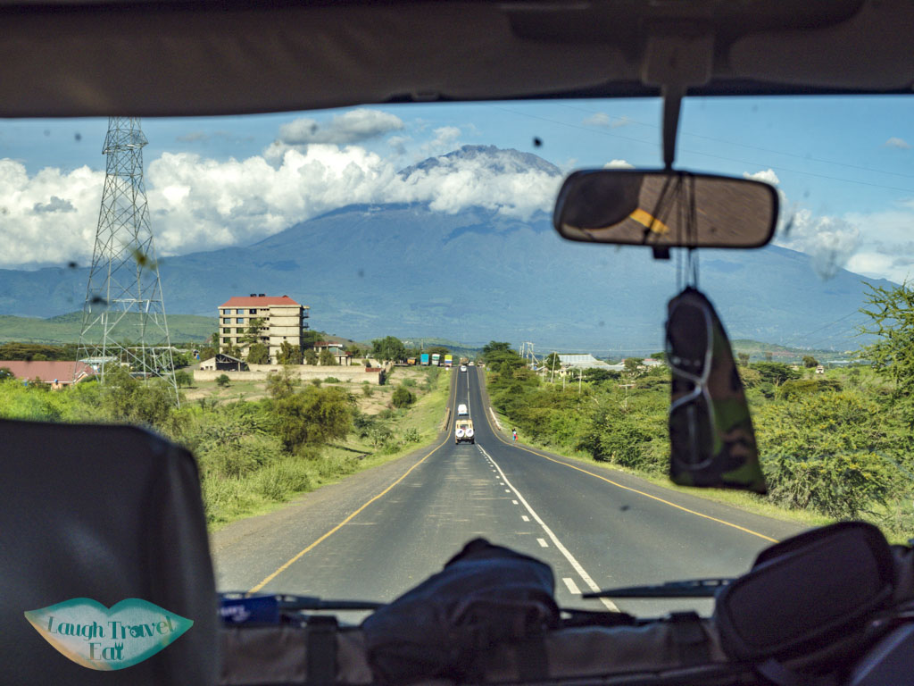 mount kili from wind screen tanzania africa - laugh travel eat