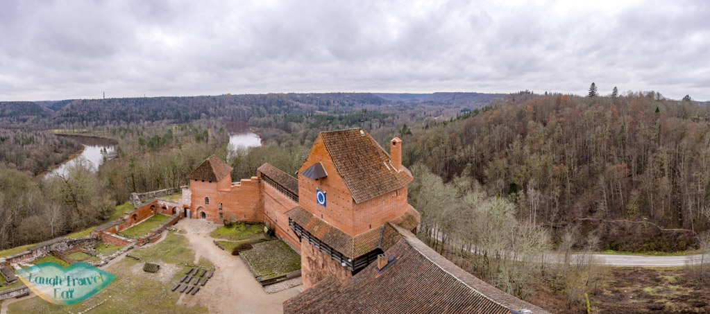 panoramic view from tower turaida castle turaida reserve gauja national park latvia - laugh travel eat