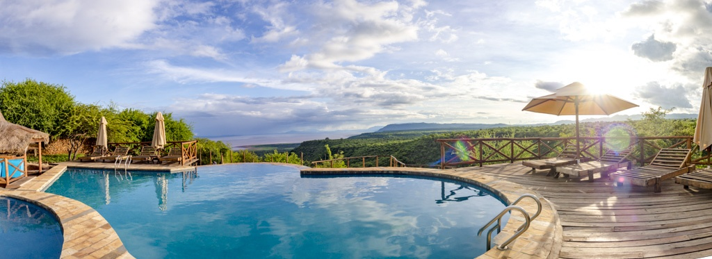 pool at escarpment luxury lodge tanzania africa - laugh travel eat
