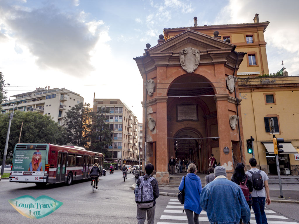 start of san luca portico walk bologna italy - laugh travel eat
