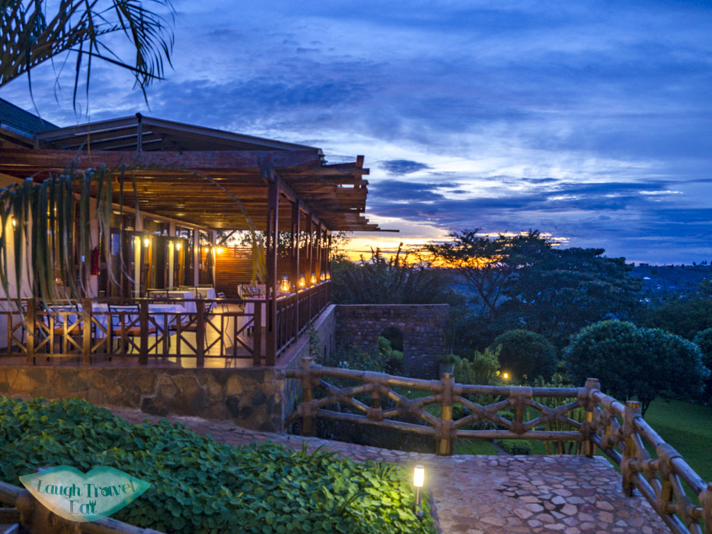 sunset at acaia farm lodge tanzania - laugh travel eat