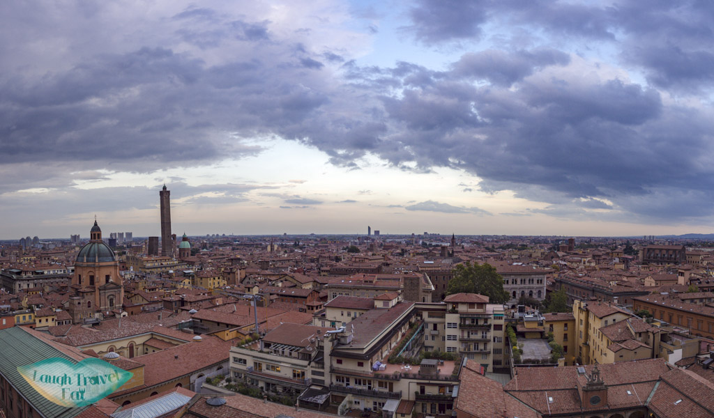 view from terrace San Petronio bologna italy - laugh travel eat