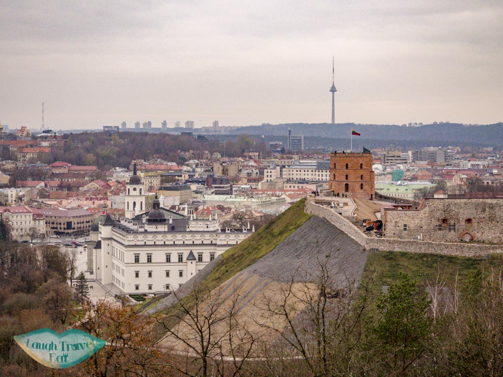 city view from three cross hill vilnius lithuania - laugh travel eat