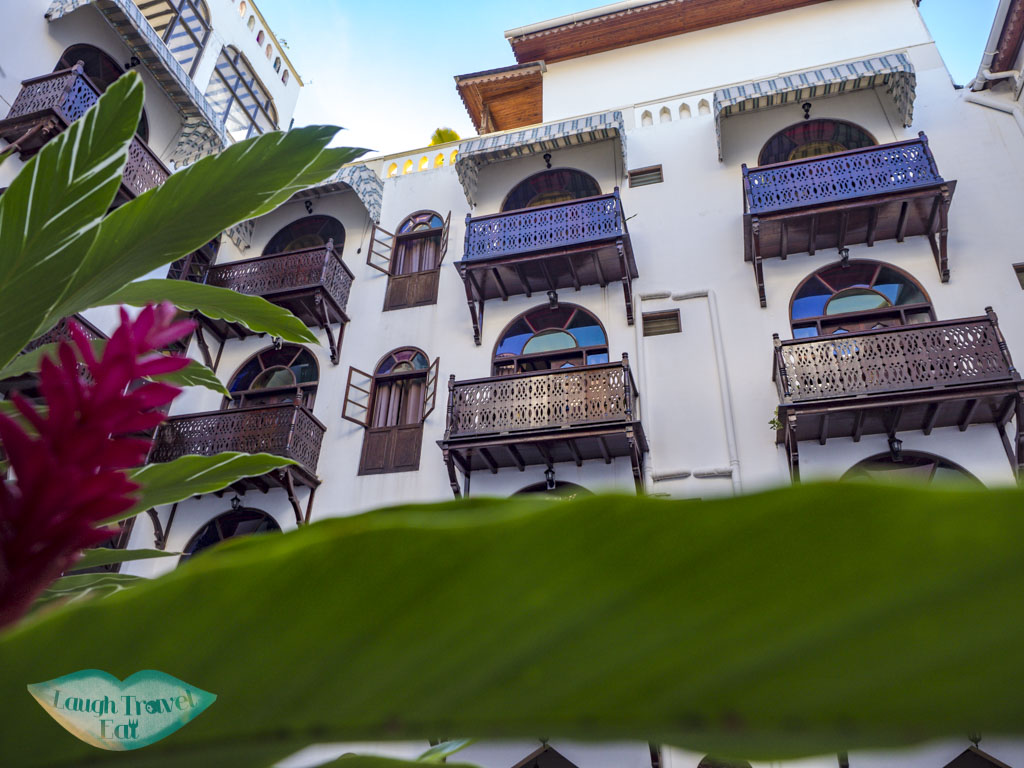 courtyard of Dhow Palace zanzibar tanzania - laugh travel eat