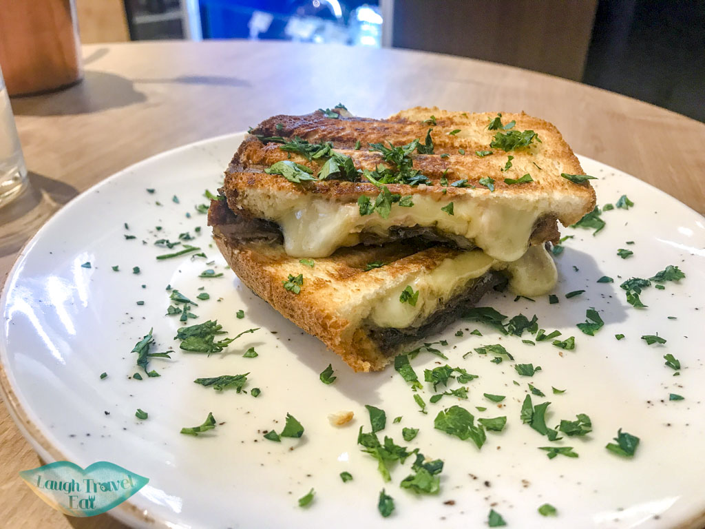 grill cheese at say cheese bistro vilnius lithuania - laugh travel eat