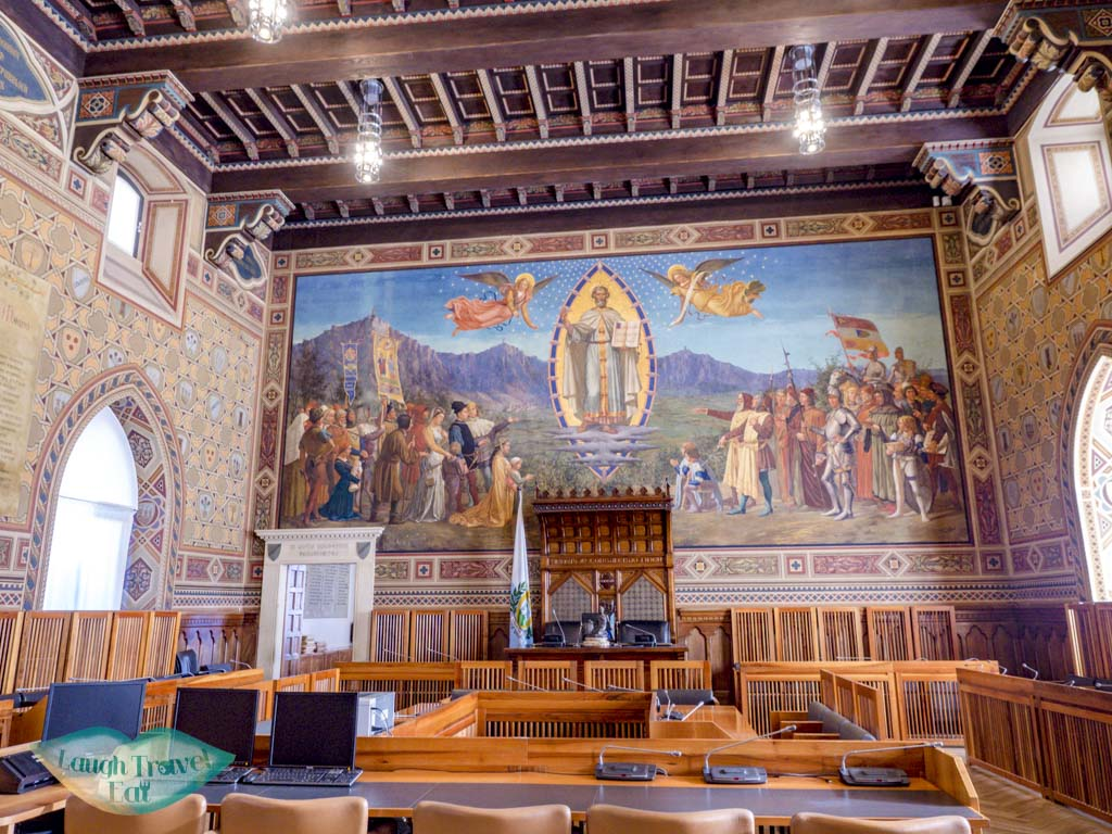 inside council Palazzo Pubblico san marino italy - laugh travel eat