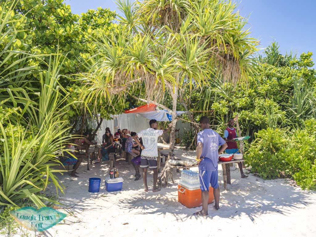 lunch mnemba island snorkeling nungwi zanzibar tanzania - laugh travel eat