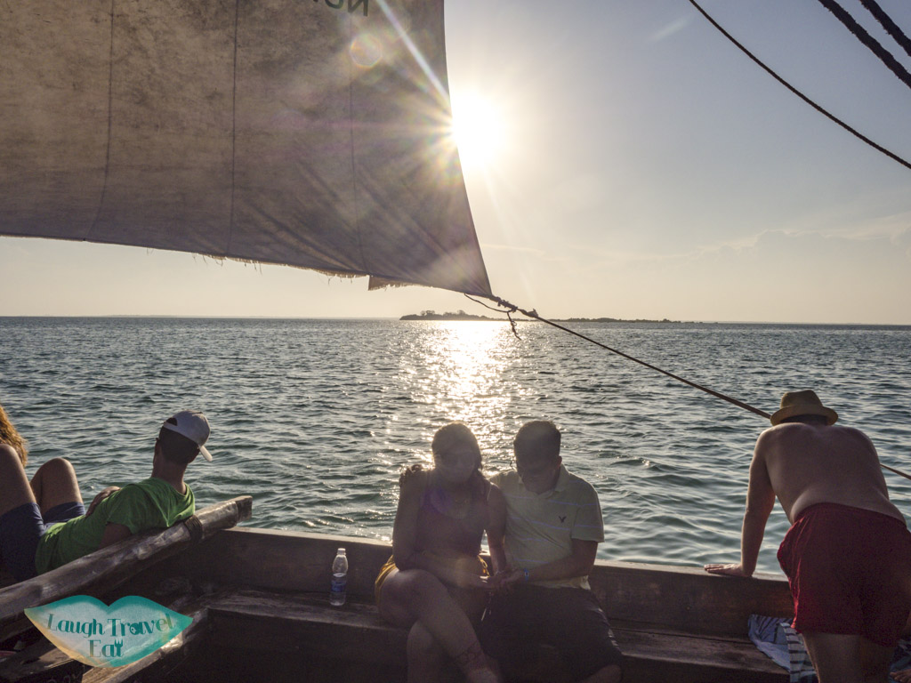 on a sunset cruise nungwi zanzibar tanzania - laugh travel eat