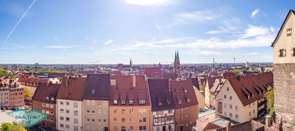 panorama of city from Imperial castle nuremberg germany - laugh travel eat