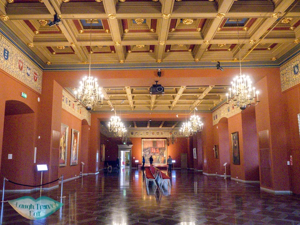 reconstructed room grand duke lithuania palace vilnius lithuania - laugh travel eat