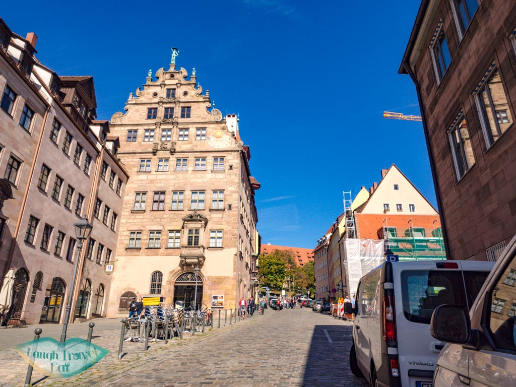 road up to castle nuremberg germany - laugh travel eat