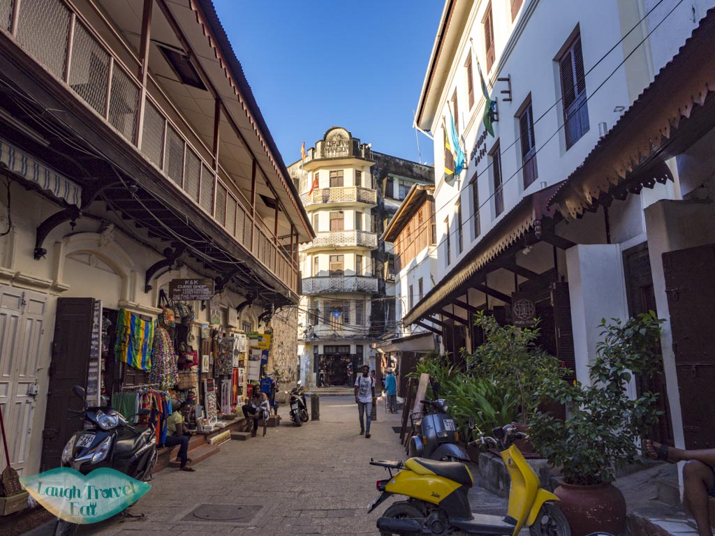 shopping and side street stone town zanzibar - laugh travel eat