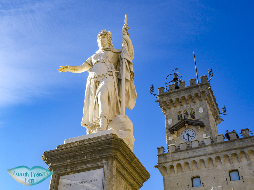 statue of librety san marino italy - laugh travel eat