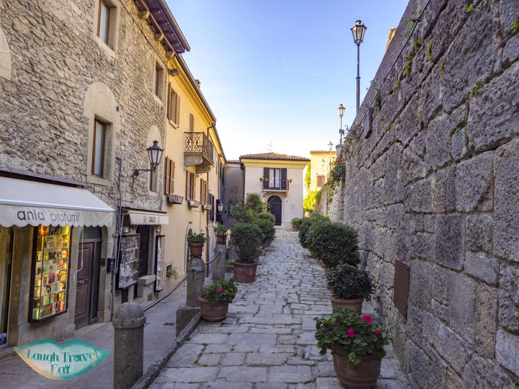 streets of san marino italy - laugh travel eat