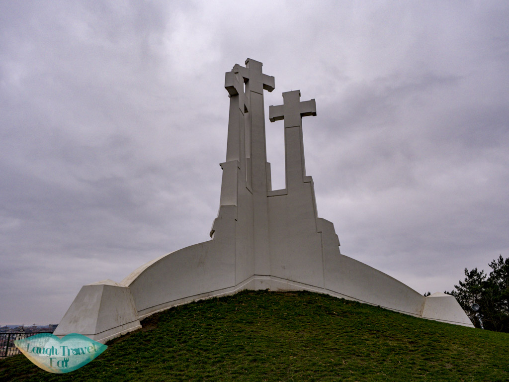 top of three cross hill vilnius lithuania - laugh travel eat