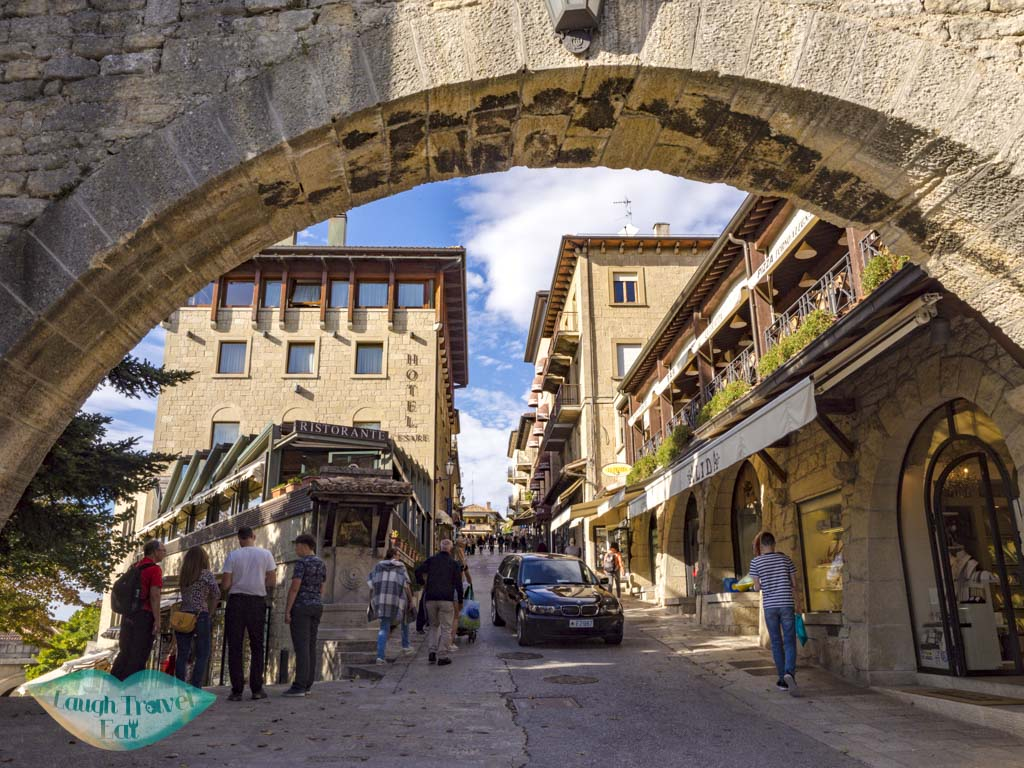 upper entrance san marino italy - laugh travel eat