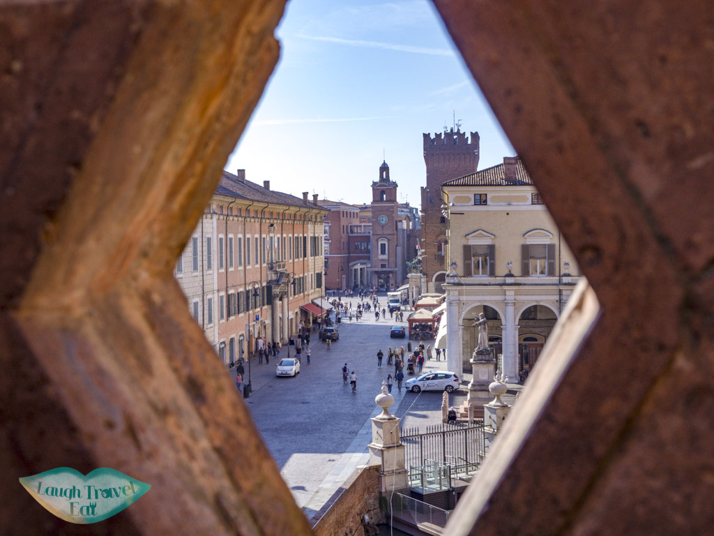 view of ferrara from Castello Estense emilia romagna italy - laugh travel eat