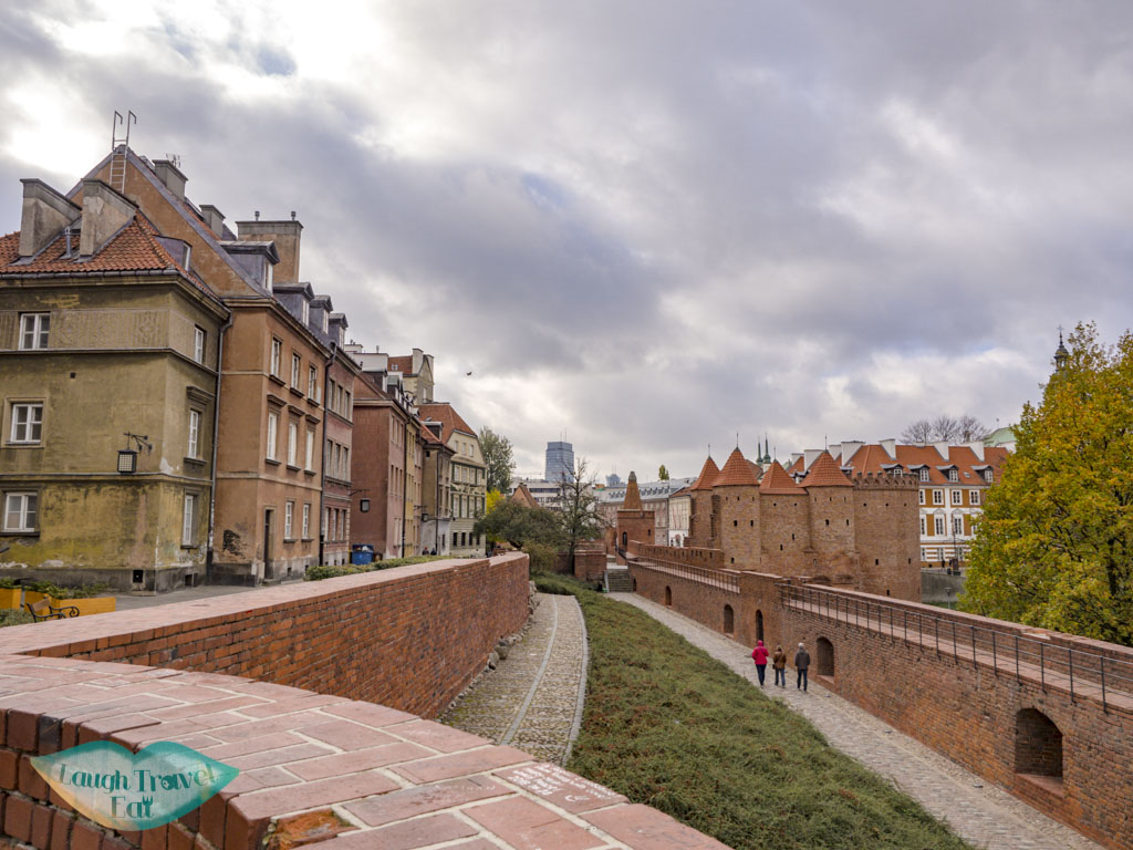 barbican old town warsaw poland - laugh travel eat