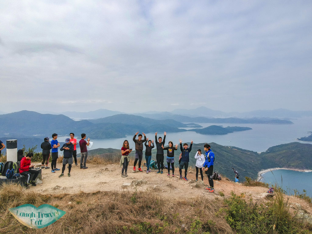 drone shot on top of sharp peak sai kung hong kong - laugh travel eat