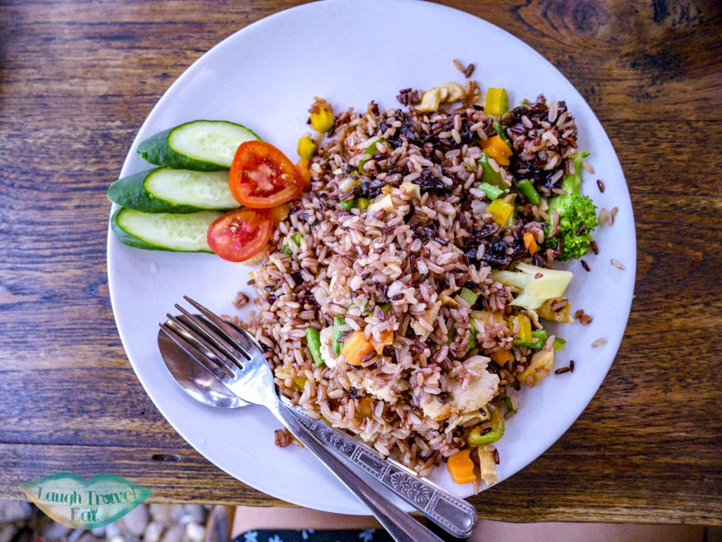 fried rice at blue diamont restaurant chiang mai thailand - laugh travel eat