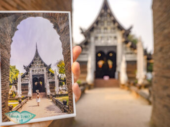 mypostcard chiang mai wat lok moli - laugh travel eat