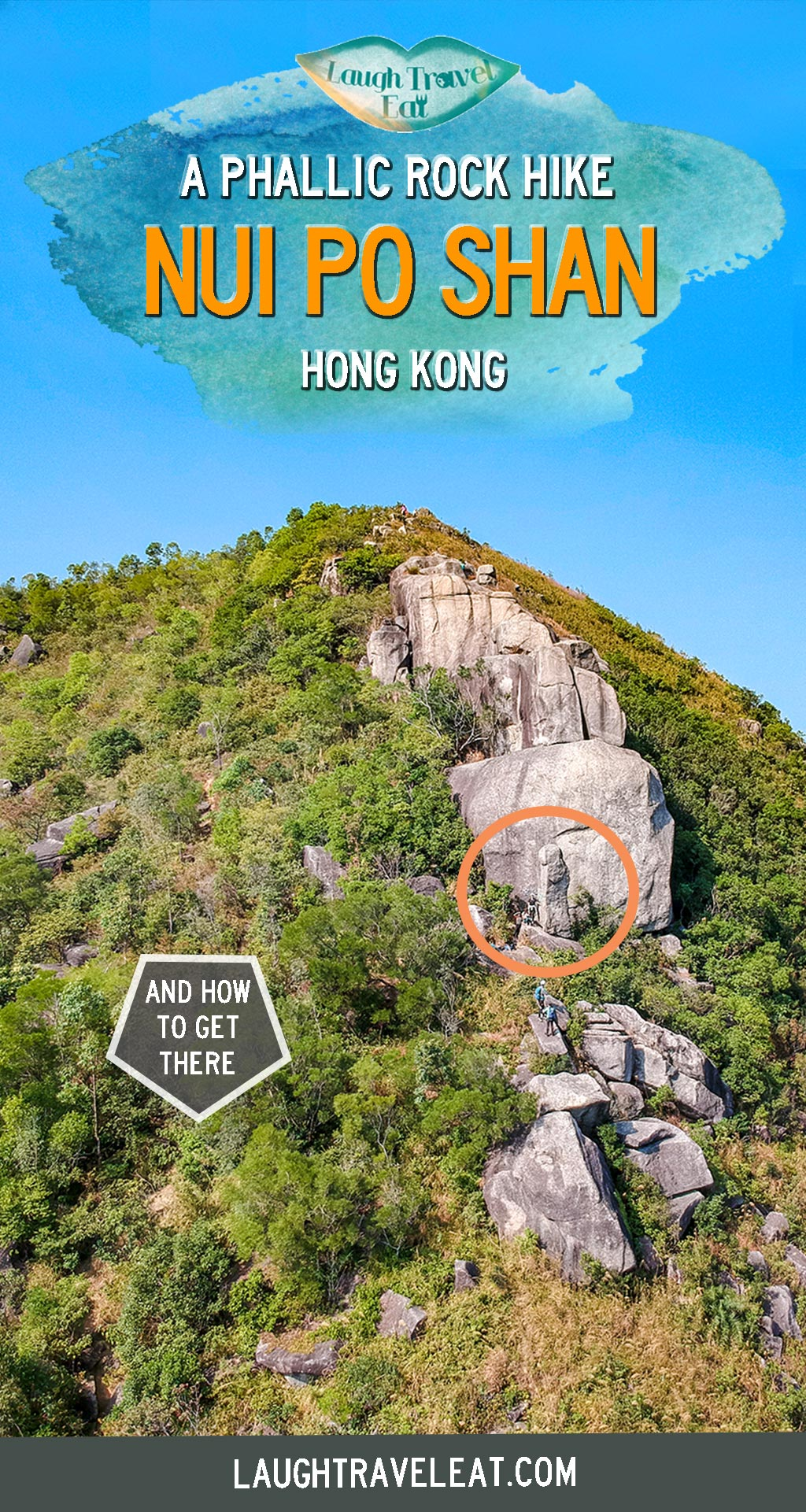Want to find an interesting hike in Hong Kong that's off the beaten path? What about a hike with a phallic shaped rock? Here's how to hike Nui Po Shan in Shatin, Hong Kong: #HongKong #hike