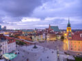 view of the square in old town warsaw poland - laugh travel eat