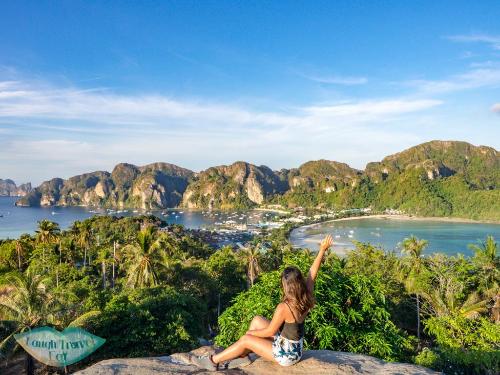 viewpoint 2 koh phi phi thailand - laugh travel eat