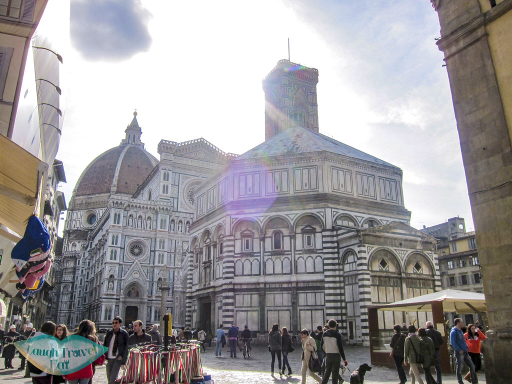 duomo square florence italy - laugh travel eat