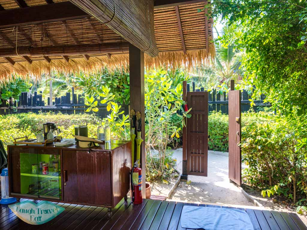 entrance and terrace of villa zeavola koh phi phi thailand - laugh travel eat