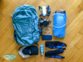 hiking essentials day pack - laugh travel eat