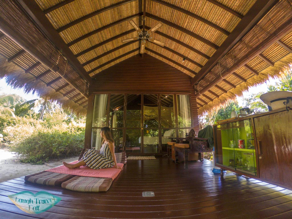 relax on my villa terrace zeavola koh phi phi thailand - laugh travel eat