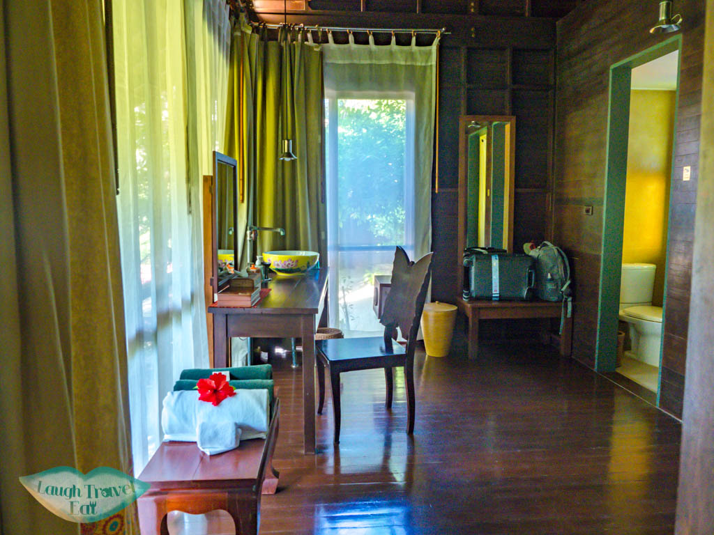 spacious bathroom villa zeavola koh phi phi thailand - laugh travel eat
