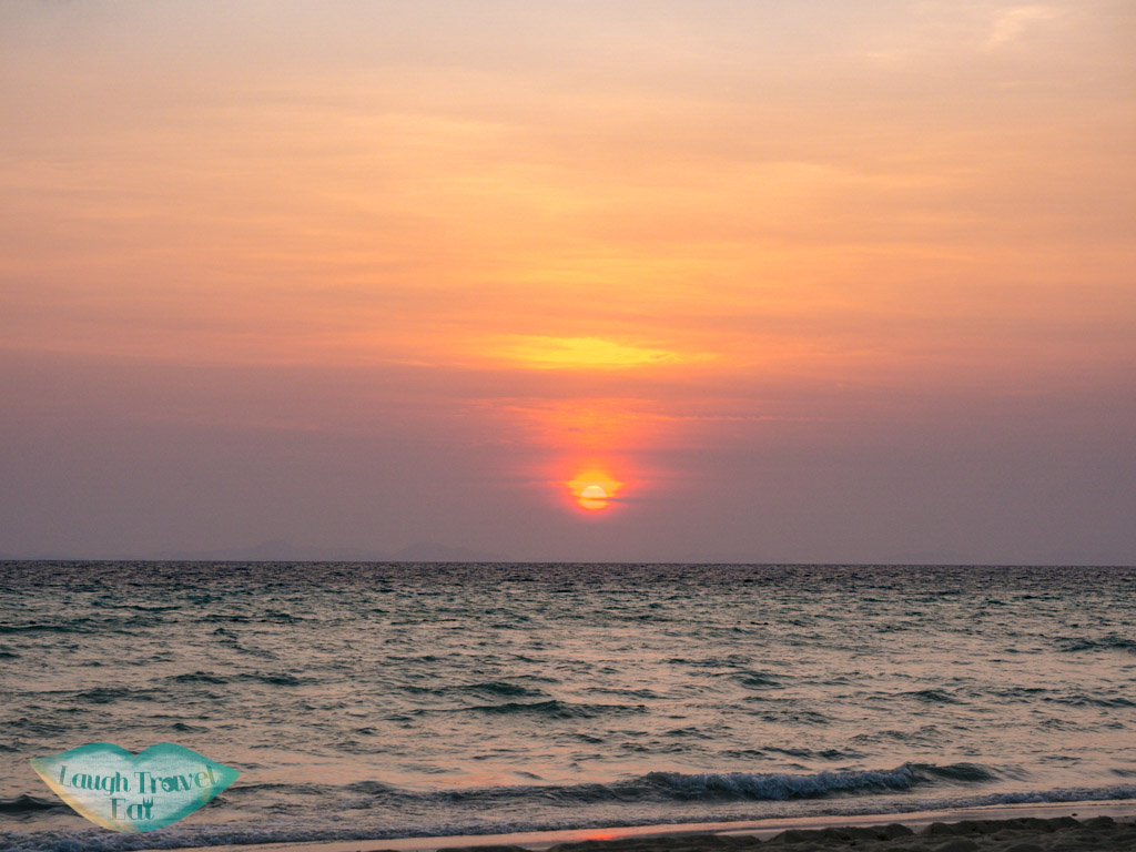 sunrise in front of zeavola koh phi phi thailand - laugh travel eat