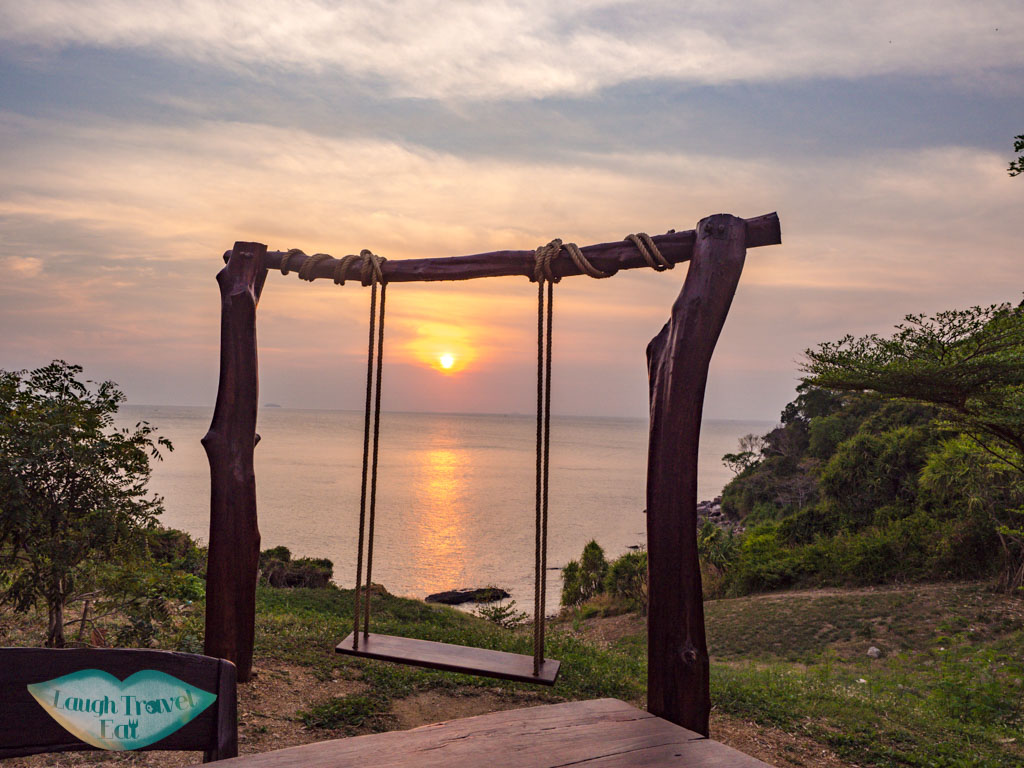 sunset spot near zeavola koh phi phi thailand - laugh travel eat