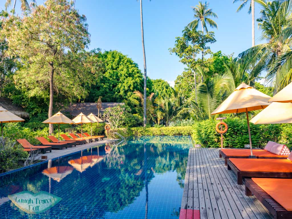 swimming pool zeavola koh phi phi thailand - laugh travel eat