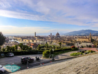 view from piazza michaelangelo florence italy - laugh travel eat