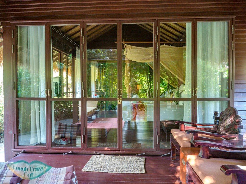 villa door villa zeavola koh phi phi thailand - laugh travel eat