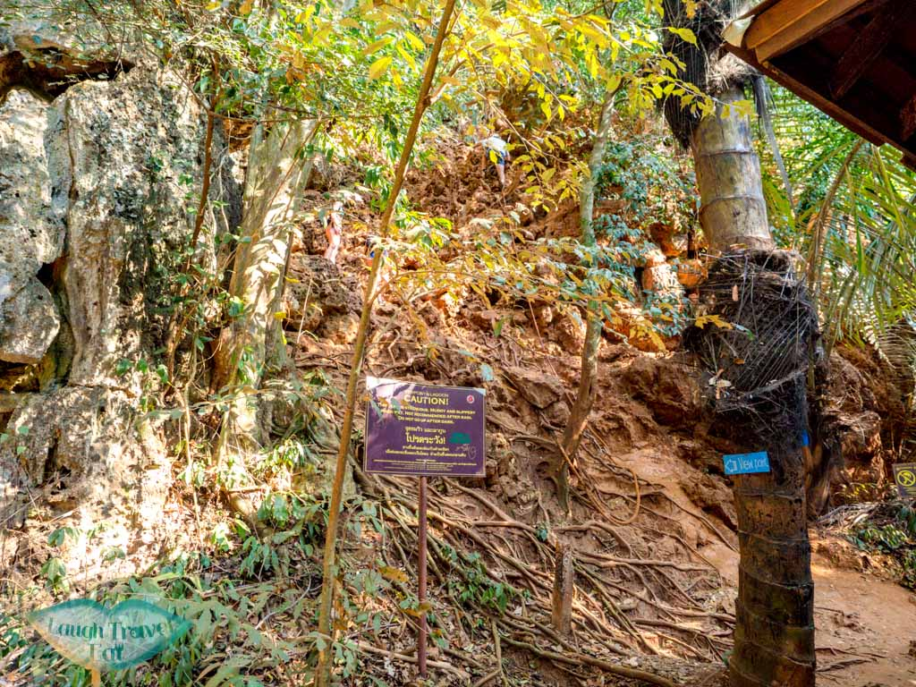 climb up to railay viewpoint krabi thailand - laugh travel eat
