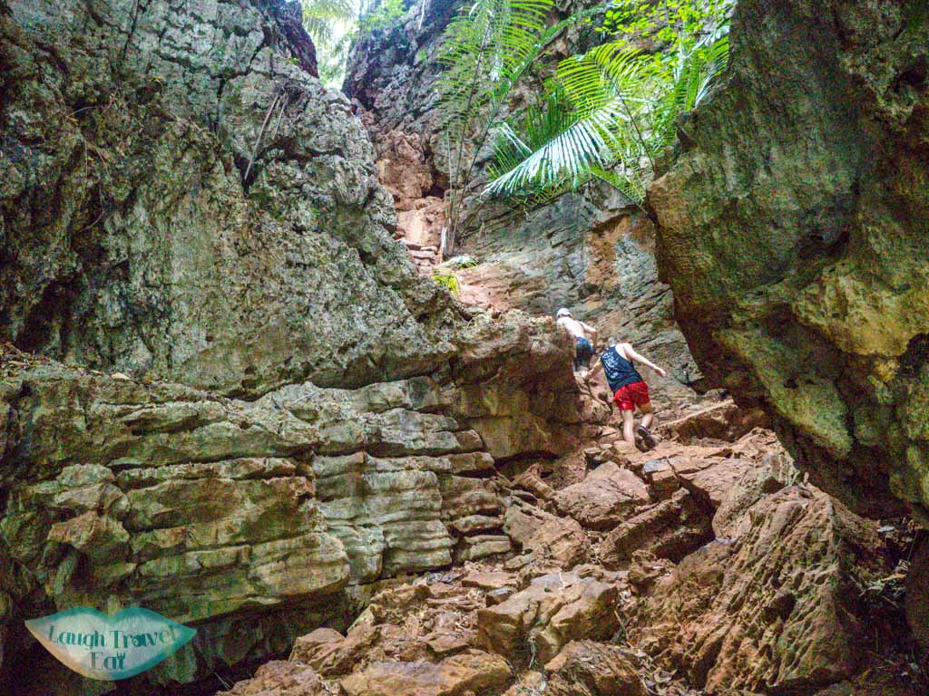 going back up from Princess Lagoon Railay krabi thailand - laugh travel eat