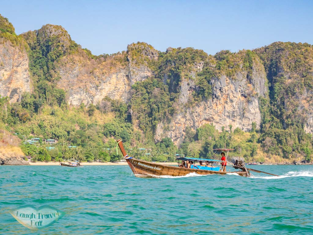 longtail boat to railay beach ao nang krabi thailand - laugh travel eat-2