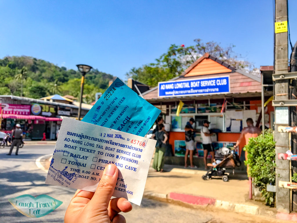 return tickets for longtail boat ao nang krabi thailand - laugh travel eat