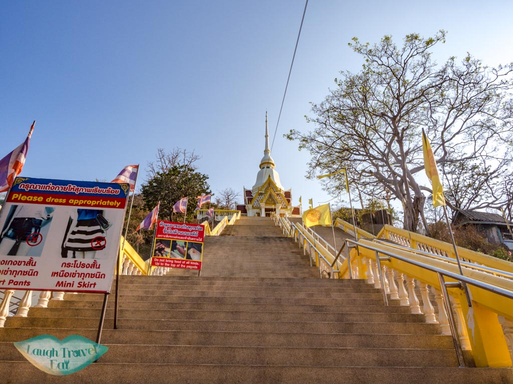 stairs up to Wat Khao Takiap hua hin thailand - laugh travel eat