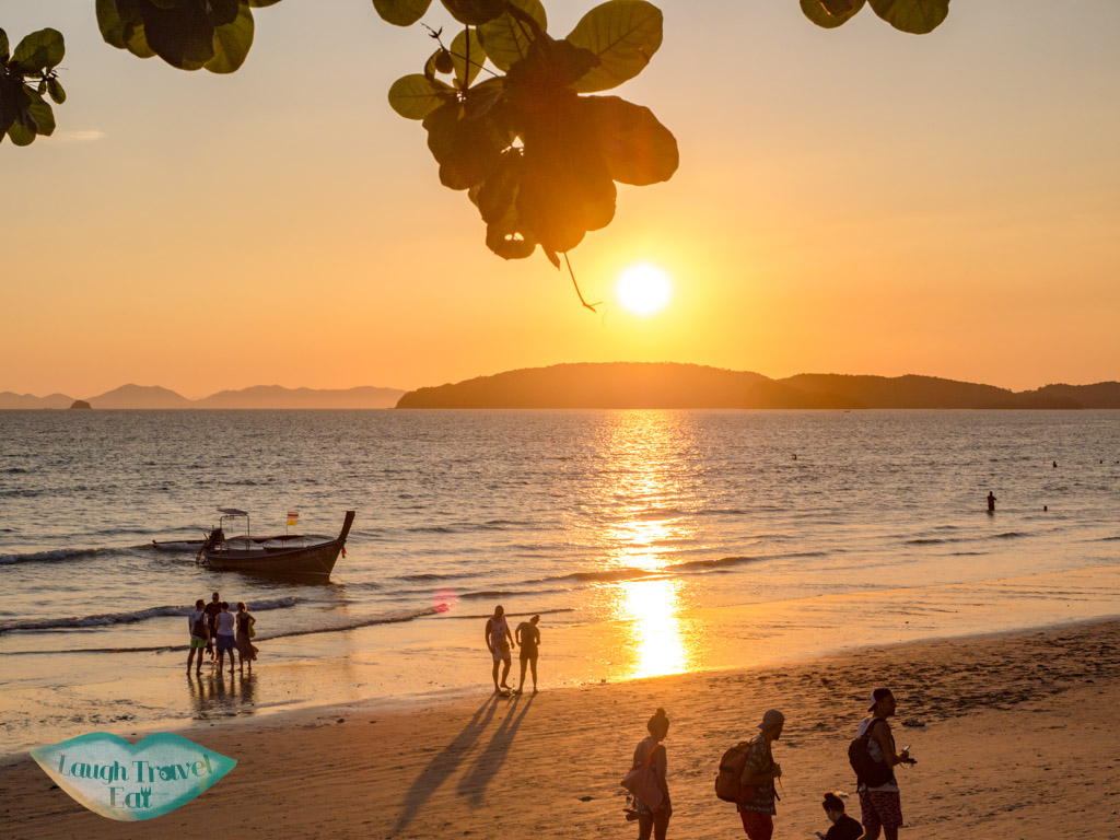 sunset ao nang krabi thailand - laugh travel eat