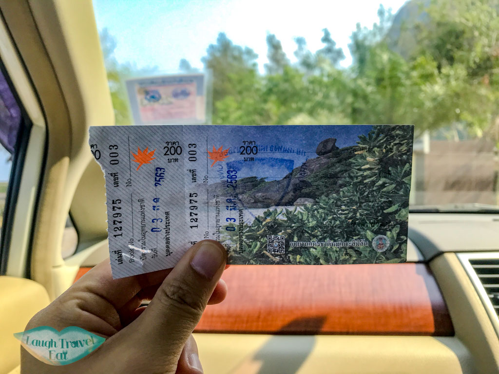 ticket for khao sam roi yot national park thailand - laugh travel eat