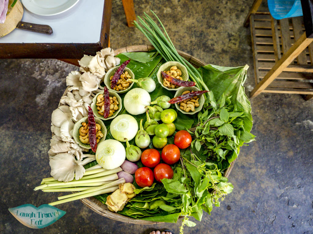 fresh ingredients backstreet academy asia scenic cooking class chiang mai thailand - laugh travel eat