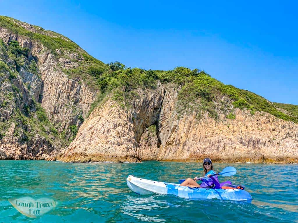 goldfish tail jin island sai kung kayaking hong kong - laugh travel eat