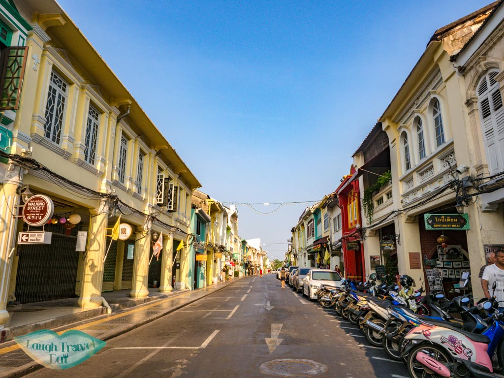 main street phuket town thailand - laugh travel eat