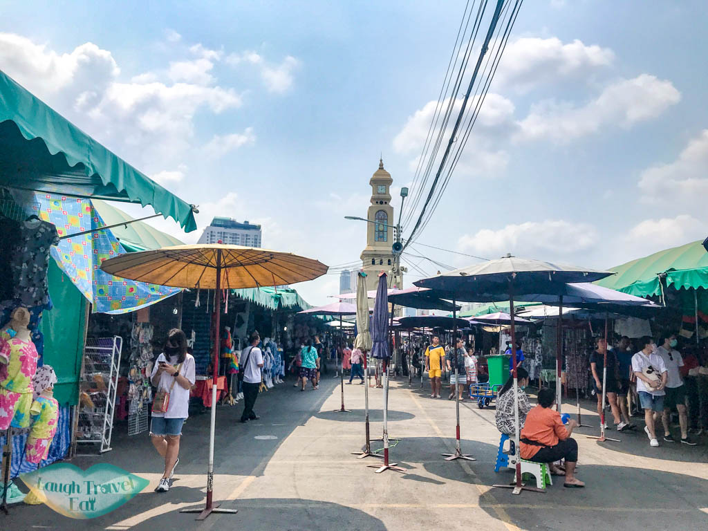 central clock tower chatuchak market bangkok thailand - laugh travel eat