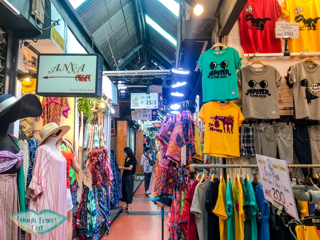 clothings chatuchak market bangkok thailand - laugh travel eat